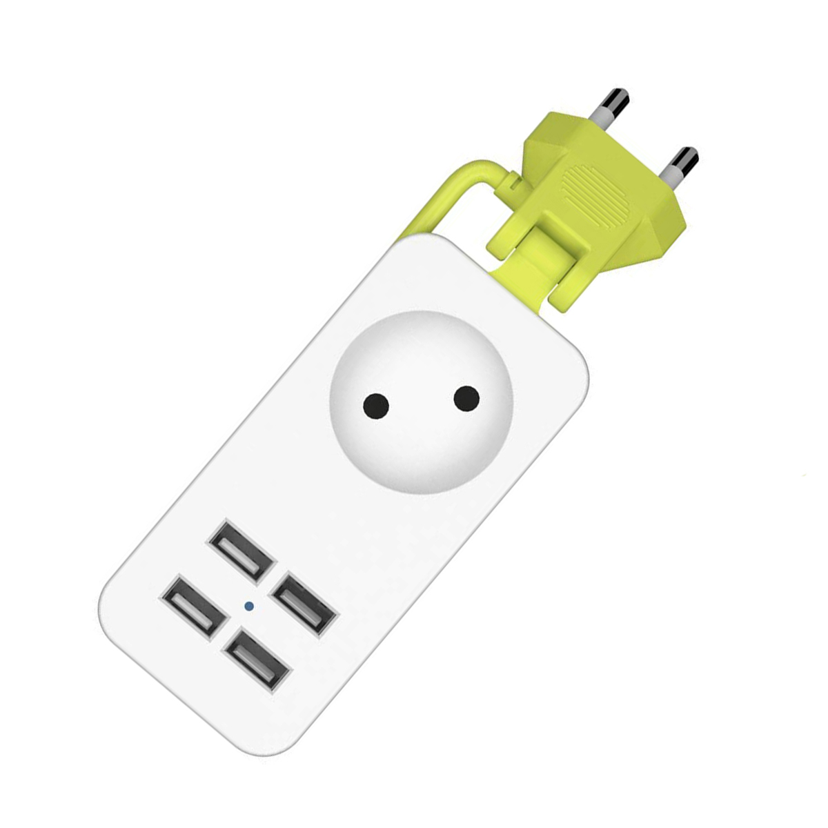 SOONHUA Power Strip 4 USB Extension Socket AC Power Adapter Portable Power Strips 1200W With 1.5m Cable EU Plug