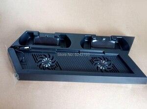 Image 2 - Için PS4 Ultrathin şarj ısı emici soğutma fanı soğutucu dikey stant Sony Playstation 4 için çift kontrolörleri şarj