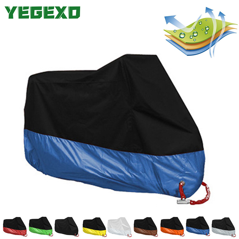 Motorcycle <font><b>Cover</b></font> Tent Waterproof Outdoor Funda Moto Housse For <font><b>YAMAHA</b></font> DRAGSTAR <font><b>650</b></font> <font><b>XVS</b></font> 1300 VINO YBR 125 PARTS VIRAGO 250 image