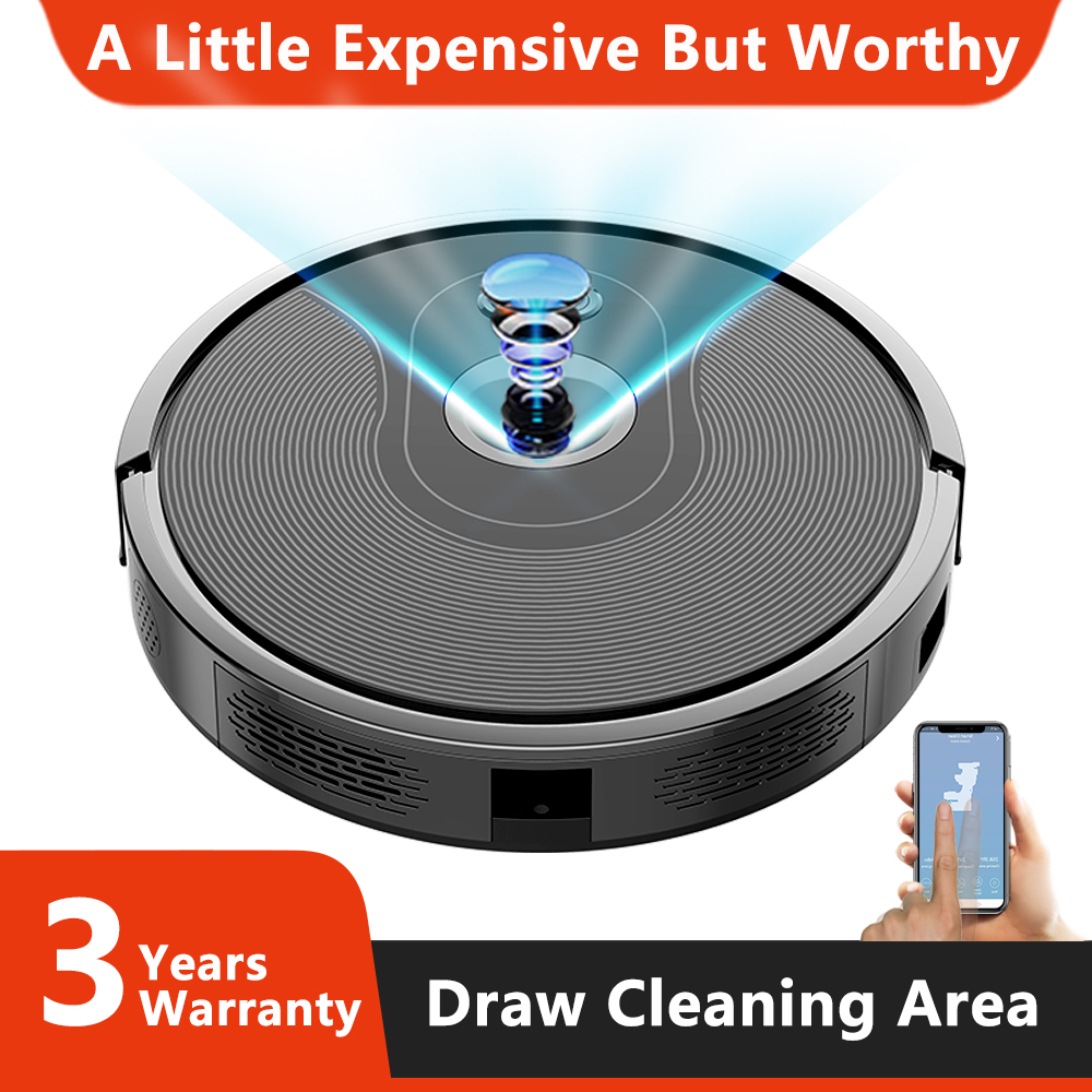 ABIR X6 Robot Vacuum Cleaner with Camera Navigation,WIFI APP controlled,Breakpoint Continue Cleaning,Draw Cleaning Area,Save Map image