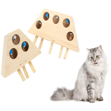 Cat Wooden Pet Toy Wooden Whack Mole Mouse For Cat Interactive Punch Toy Whac-A-Mole Cat Kitty Funny Toy Mouse Chasing Gaming недорого
