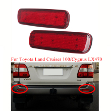 MIZIAUTO Rear Bumper Reflector Light LED For Toyota Land Cruiser 100/Cygnus LX470 Stop Brake Lamp Car LED Warning Tail Lantern mzorange 2pcs led rear bumper reflector light tail brake stop drl fog light lamp for toyota land cruiser for lexus lx470 lantern