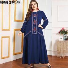Saber sonho vestido de saia longa grande cross border moda roupas temperamento emenda manga longa casual vestido mulher
