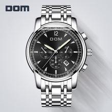 Часы Для мужчин Элитный бренд хронограф спортивные часы Водонепроницаемый