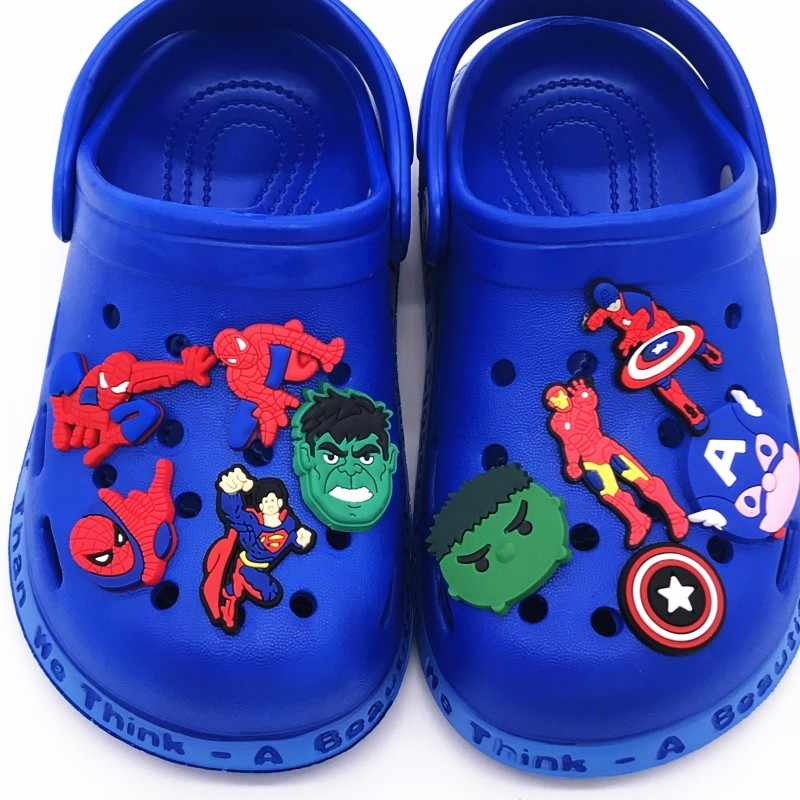 1 Chiếc Hulk Thor Bát Man Siêu Man Avengers Phụ Kiện Giày Vườn Giày Trang Trí Quyến Rũ Cho Croc Jibz Khóa Kid X Của MAS Tặng