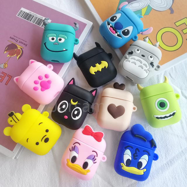 Cartoon Cute Wireless Earphone Case For AirPods 2 Silicone Charging Headphones Case for Air pod cases Protective luxury Cover 2