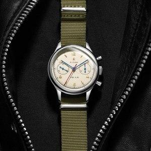 Image 4 - Классические сапфировое стекло 1963 хронограф для мужчин пилот часы механический ручной Ветер движение мужчин t ST1901 мужские авиаторы часы SEAKOSS 38 40