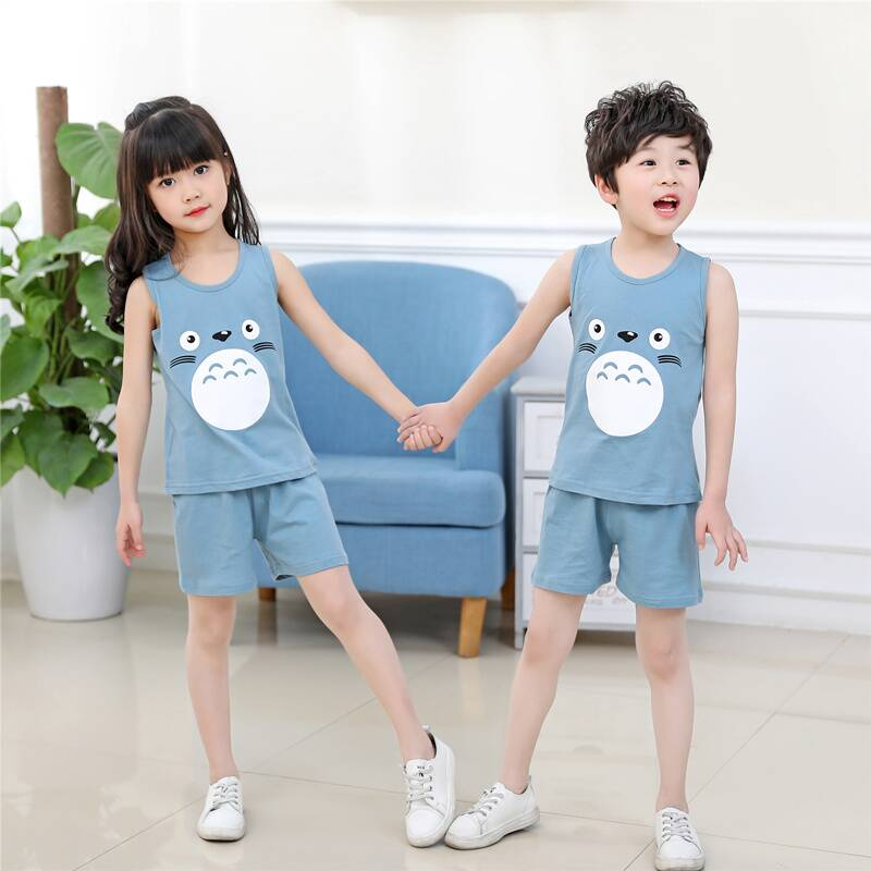 Baby Girls Clothes Summer Top Vest Short Pants Kids Girl Outfits Cotton Cartoon