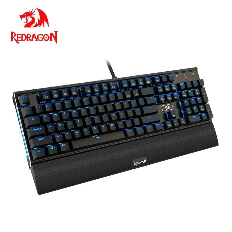 Redragon K567 RGB USB mechanical gaming keyboard ergonomic LED backlit keys Full key anti-ghosting 104 wired PC Computer game