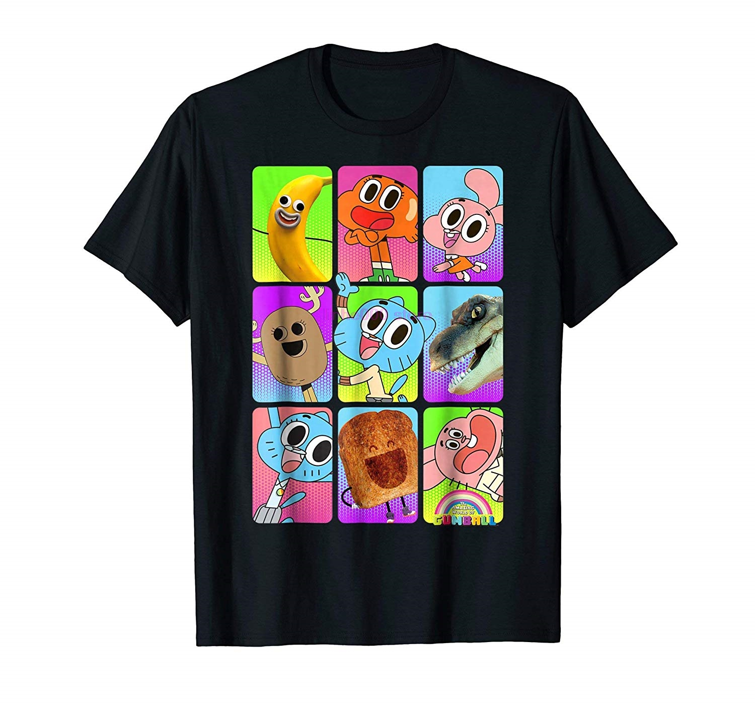 Men Shirt CN Amazing World Of Gumball Cast Pictures Graphic T Shirt