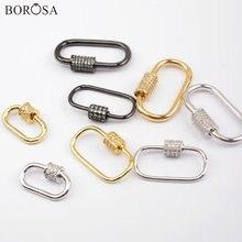 Овальный borosa спиральная винтовая застежка соединитель ювелирные