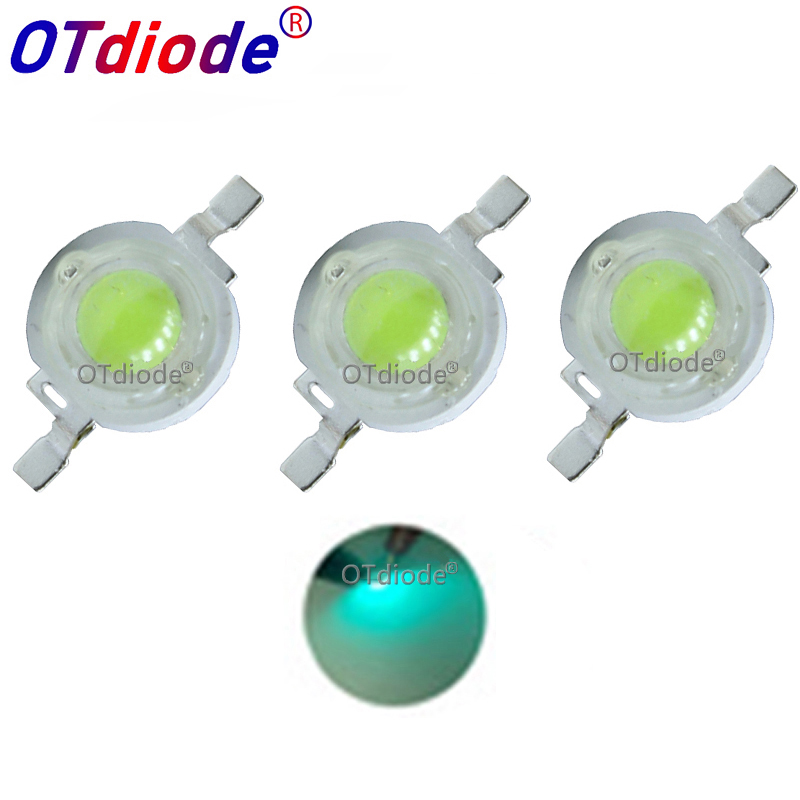 10-100PCS 3W Cyan Ice Blue Green High Power LED Lamp Led Emitter Light 490-495nm Diode 350-700mA For Decoration