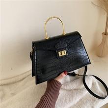 Crocodile Pattern Crossbody Bags For Women 2020 New Quality PU Leather Women Designers Handbags Small Shoulder Messenger Bags