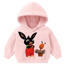 Vogue bing coelhos crianças roupas dos desenhos animados impressão moda hoodies meninas meninos harajuku kawaii crianças roupas engraçado pulôver