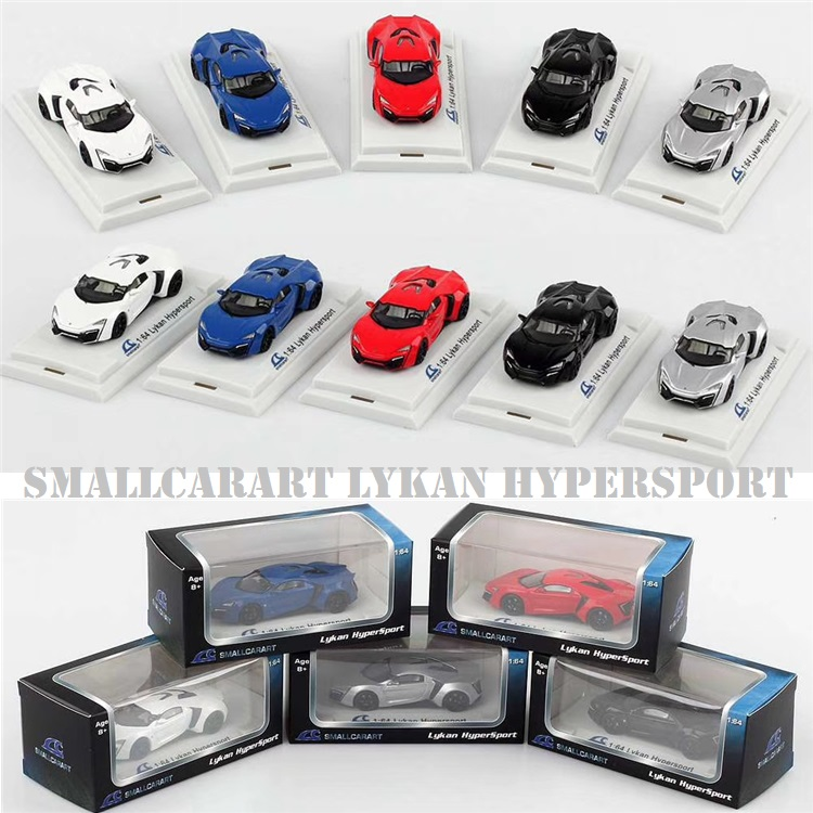 SmallCarArt 1:64 Lykan Hyperspor Diecast Model Car