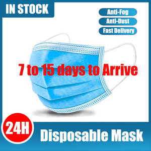 50/100 Pcs Face Mouth Mask Disposable 3 Layers Filter Earloop Non Woven Mouth Masks Anti Dust Masks bj