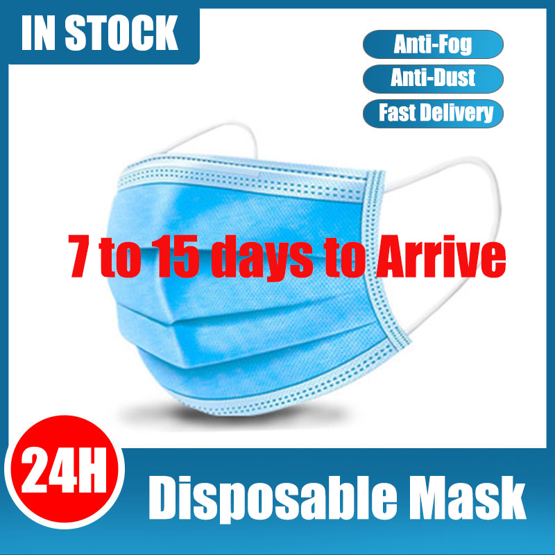 100PCS Disposable Mask 마스크 3-Ply Non Woven Disposable Elastic Mouth Breathable Safety Mascarillas PK Mask With Filter