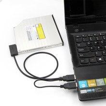 Sata à linha de movimentação ótica 6 + 7p do caderno do cabo do adaptador de usb 3.0 fácil para a movimentação slimline do portátil dvd/cd rom