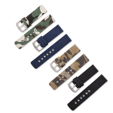 18mm/20mm /22mm /24mm Watchband Canvas Camouflage Military Watch Band Strap For Men Women Watches Accessories Wrist Watch Belt calfskin leather watchband quick release watch band wrist strap 18mm 20mm 22mm 24mm smart watch strap watches accessories