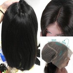 Image 4 - 레이스 프런트 인간의 머리 가발 금발 자연 색상 브라질 레미 헤어 짧은 밥 가발 미리 뽑은 헤어 라인 금발 613 #