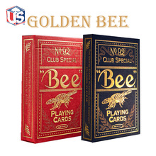 1set High Quality Bee Golden Deck Bicycle Magic Props Magic Playing Cards Magia Poker Playing Card Magic Tricks for Magician цена 2017