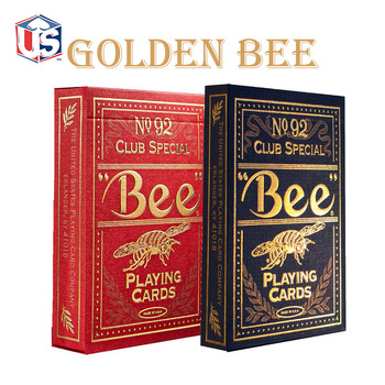 цена на 1 set High Quality Bee Golden Deck Bicycle Magic Props Magic Playing Cards Magia Poker Playing Card Magic Tricks for Magician