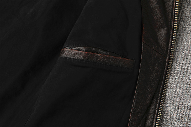 H562b2a77a12042839fc5abfb0e54ff0aW Classic motor style,vintage genuine leather Jacket,fashion men brown Leather coat,street biker coat,sales