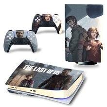 PS5 الأخير القرص طبعة الجلد ملصقا ل بلاي ستيشن 5 وحدة و 2 تحكم صائق الفينيل واقية جلود نمط 10