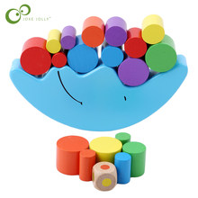 Baby Early Learning Toy Wood Moon Balancing Educational Toys Building Blocks Kids Children Balancing Toy Children Gift ZXH(China)