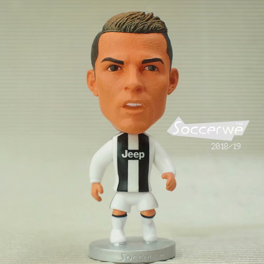 Soccer Star 6.5 Cm Height Resin Dolls Cristiano Ronaldo JU2019 Season 2.5