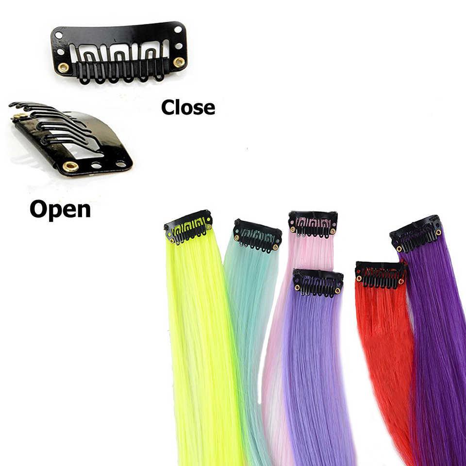 Lupu Regenboog Gemarkeerd Haar Meisje Een Chip In Haarverlenging Synthetische Lange Rechte Haar Clip Haar Clip Steil Haar