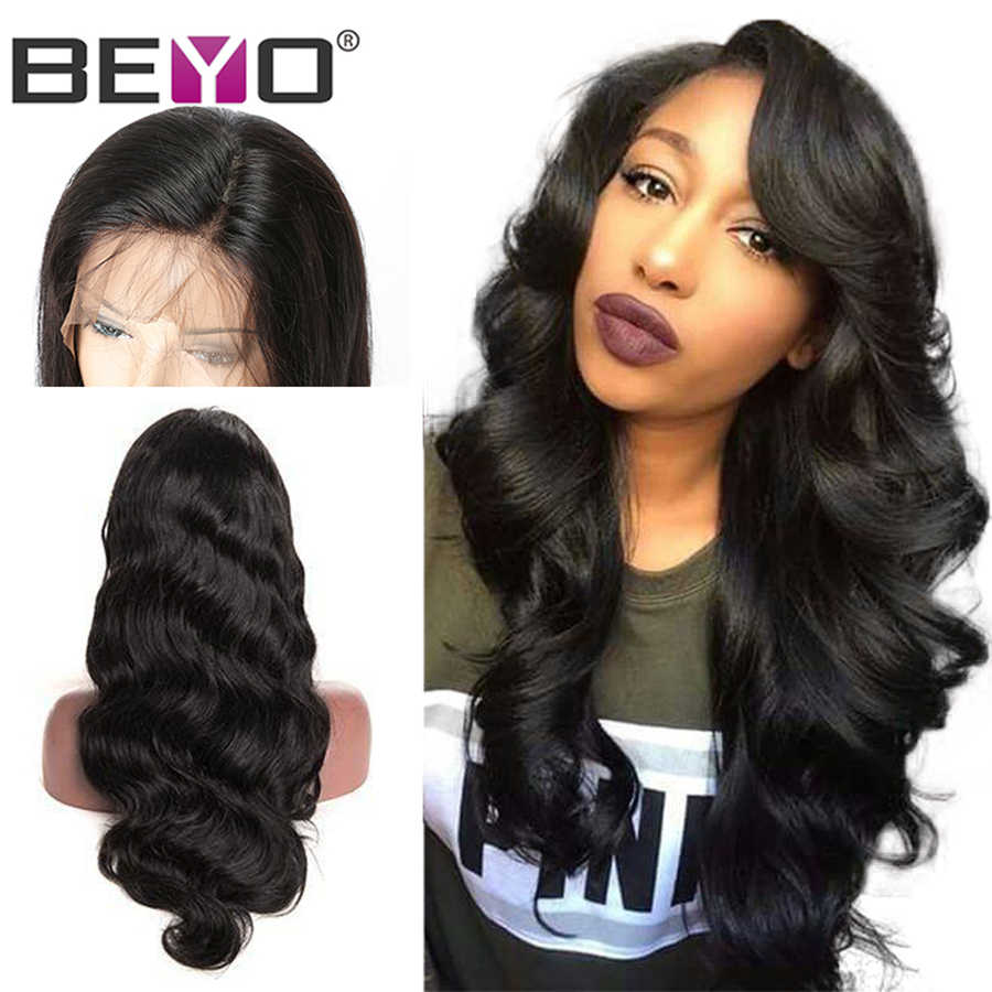 360 Lace Frontal Wig Pre Plucked With Baby Hair Brazilian Body Wave Lace Front Human Hair Wigs For Women Lace Wig Beyo Remy Hair