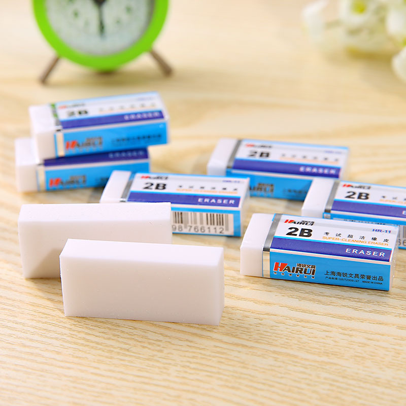 1Pcs 2B Painting Rubber Erasers Durable Flexible Pencil  Students Stationery School Supplies For Children Kids White Rubber