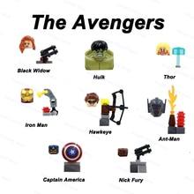 DISNEY MARVEL Building Blocks Avengers Bricks Superhero Iron Man Spiderman Thor Groot Action Figures Kids Children Toys for Boys