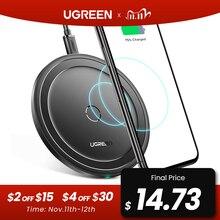 Ugreen Carregador Sem Fio para iPhone 11 X Xs Mais 10W S10 Rápida Almofada de Carregamento Sem Fio Qi para Samsung Nota 9 Carreg