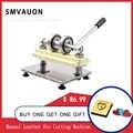 SMVAUON manuel en cuir bois Machine de découpe à la main PVC/EVA feuille moule coupe la Machine de pressage pour la découpe Laser personnalisée