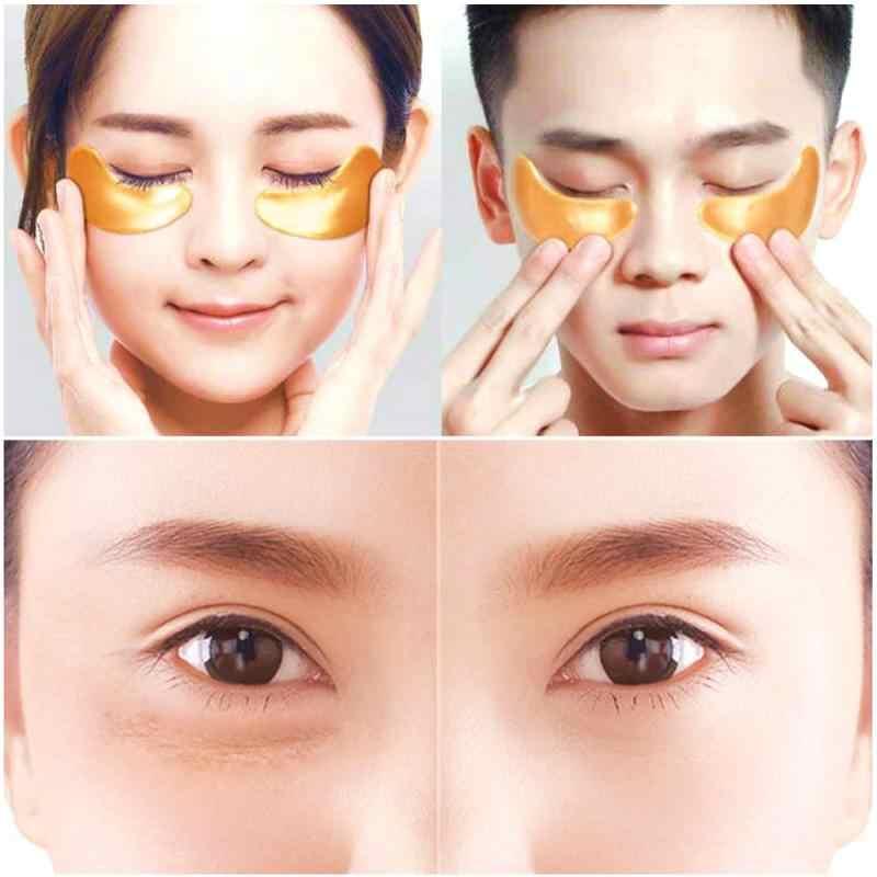 AMEIZII 2 قطعة = 1 زوج الذهب العين بقع قناع كريستال الكولاجين قناع عين العين بقع العناية بالعين الدوائر السوداء إزالة العناية بالوجه TSLM1