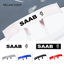 Car Styling tail spoiler non-perforated vehicle stability car sticker decal For SAAB 9-3 93 9-5 9 3 9000 5 decoration