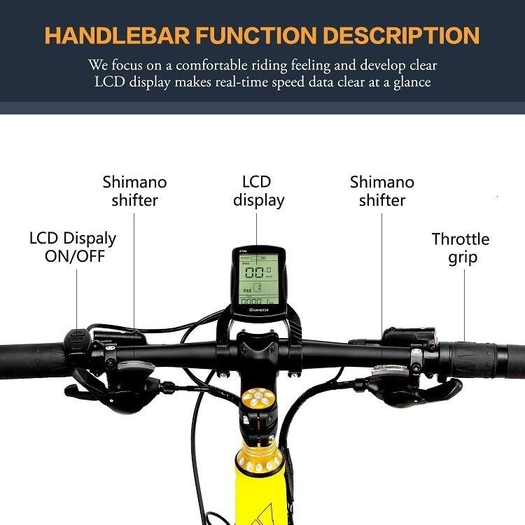 EU Quality XT750Plus 1000W E-bike 26 inch Fat Tire 1000W Electric Bike 1000W Electric Bicycle w 5