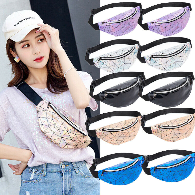 Fashion Fanny Pack 2019 New Women Waist Bag Laser Transparent Clear Bum One Sholuder Chest Bags Crossbody Beach Bag Steetwear