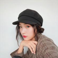 Женская британская японская шапка художник осень и зима Корейская