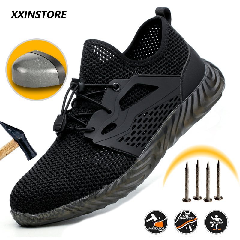 Indestructible Work Shoes Steel Toe Cap Safety Shoes Anti-piercing Boots Men's And Women's Shoes Lightweight Breathable Sneakers