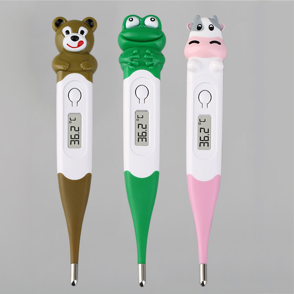 Cute Cartoon Animals Diagnostic-Tool Frog//Bear//Cow Digital Monitor Thermometer Oxter /& Mouth for Baby Children