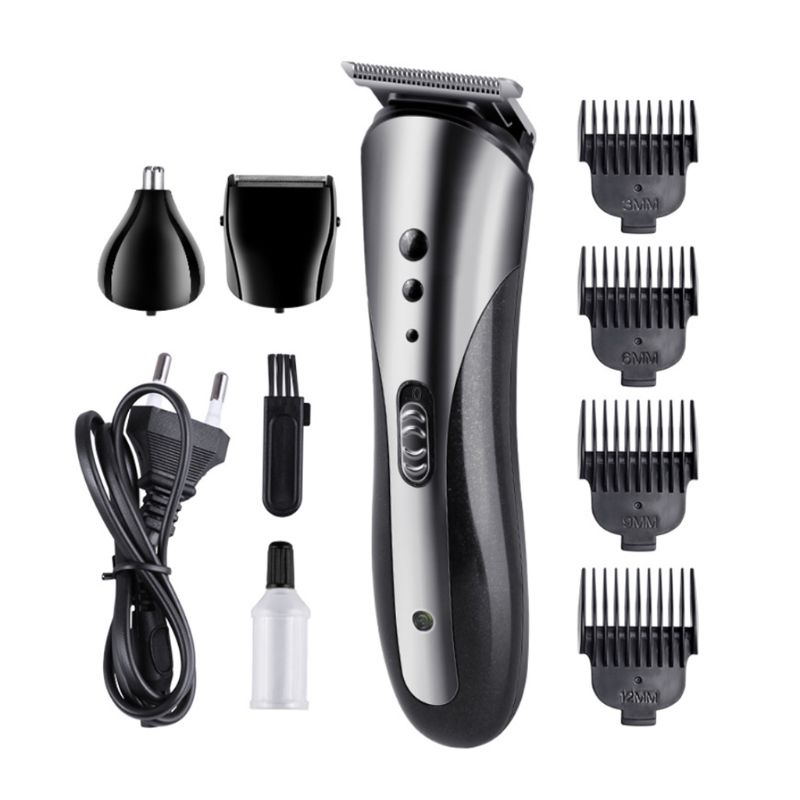3 In 1 Multifunctional Electric Hair Clipper Razor Beard Shaver Nose Hair Cutter Trimmer Limit Comb Set Cordless Rechargeable