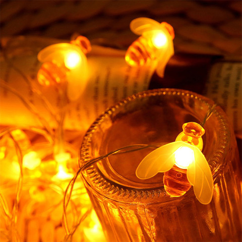Window Curtain Bee Lights String House Party Decor Striking Lighting With 20 LED Beads DIY Holiday Lantern USB Powered Pakistan