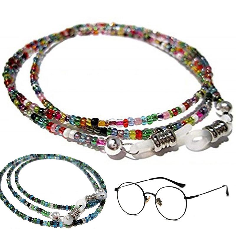 Cadena para gafas de sol con cuentas, cordón para sujetar el cuello, soporte para lentes de lectura, accesorios de cuerda