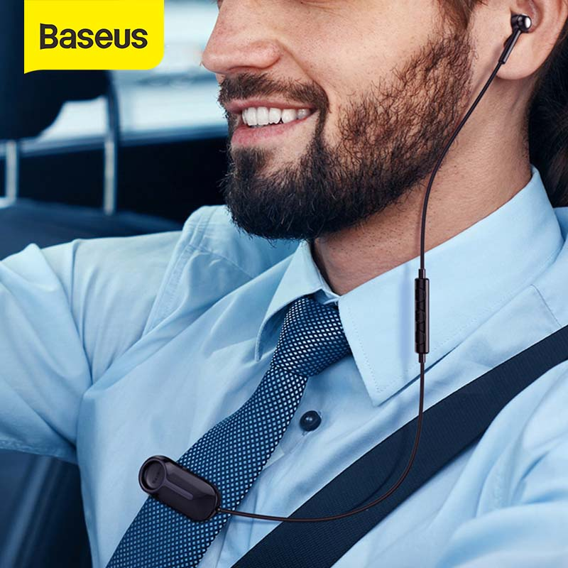 Baseus Bluetooth Earphone Lavalier Wireless Headphones With Micphone Earbud Handsfree Earphone Fone De Ouvido For IPhone Android
