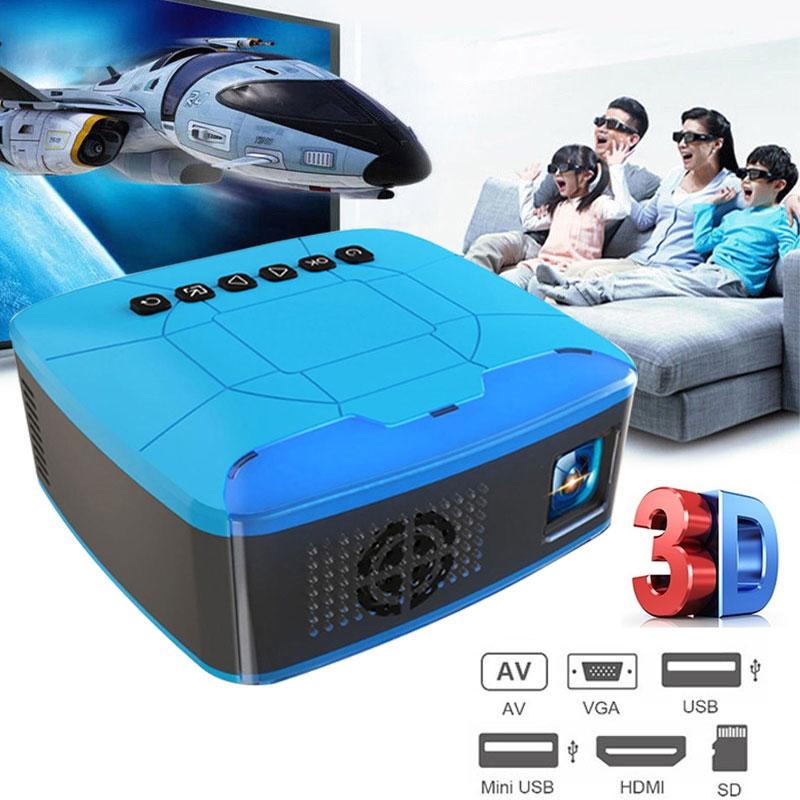 U20 nouveau Design MINI HD projecteur et projecteur LED multimédia Home cinéma Portable cinéma numérique film 3D Full HD projecteur