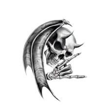 Personality Devil Death Skull Motorcycle Helmet  Car Sticker Windows Reflective Decal PVC Sunscreen Waterproof,11cm*14cm aliauto personality creative car sticker windows jdm culture japan flag pvc waterproof sunscreen decal accessories 9cm 15cm
