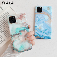 ELALA matte marble case for iPhone xr color graffiti IMD silicon cover 11 Pro x xs max 6 s 7 8 plus